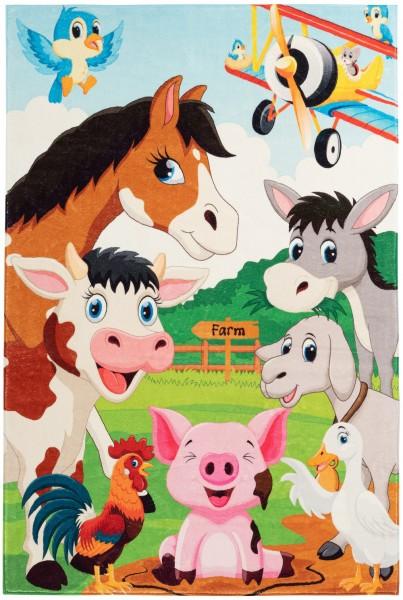 Kinder Teppich Obsession Juno 472 Farm multicolor