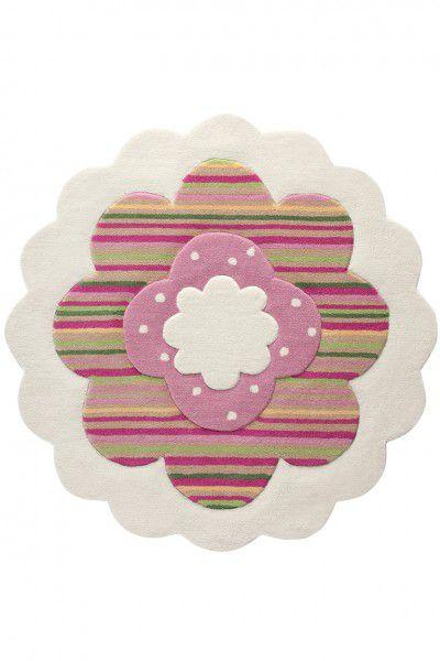 Teppich Esprit Flower Shape ESP-2840-09 beige 100 cm rund