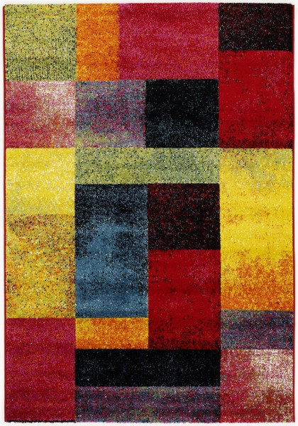 Kurzflor Designer Teppich Super Line Fun Blocks 598 multicolor
