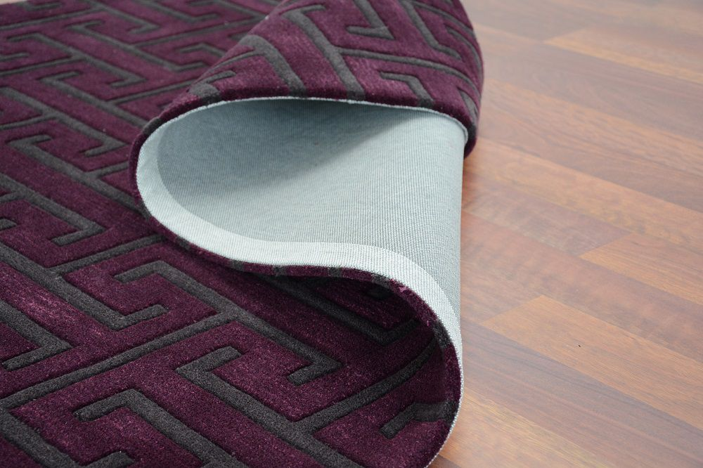 teppich joop design exklusiv lila grau raum quadrat. Black Bedroom Furniture Sets. Home Design Ideas