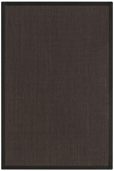 Sisal Teppich Astra Santos braun schwarz / ebenholz 44