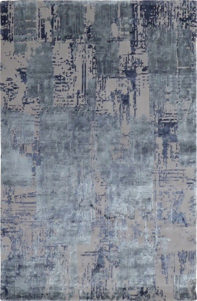 Kurzflor Designer Teppich Angelo Revenge 4850-REV225 blau taupe