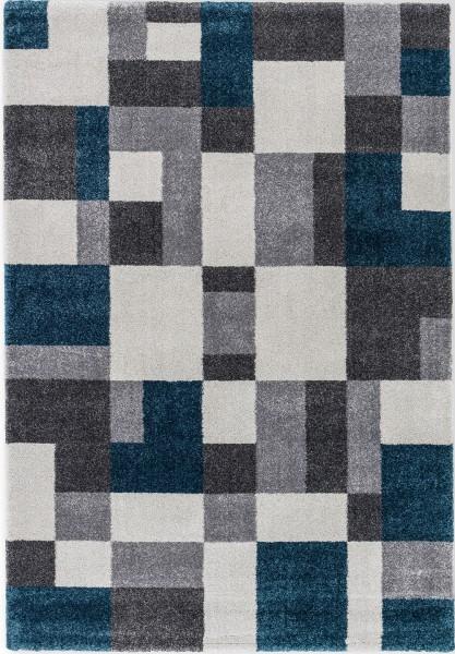 Hochflor Shaggy Teppich Astra Savona 6888 191 020 petrol / blau grau