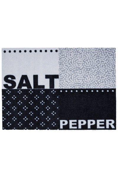 Wohn- / Küchenmatte Astra Cardea Des.16 Salt & Pepper Design schwarz grau