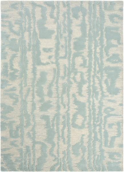 Kurzflor Designer Teppich Florence Broadhurst Waterwave Stripe 039908 Pearl blau