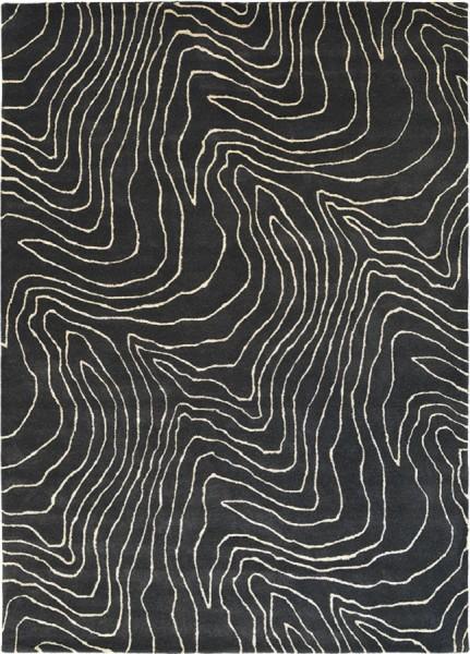 Kurzflor Designer Teppich Harlequin Formation 40805 Moonlight schwarz
