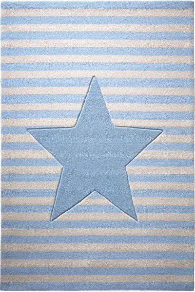 Kinder Teppich bellybutton My little Star BB-4214-04 blau creme
