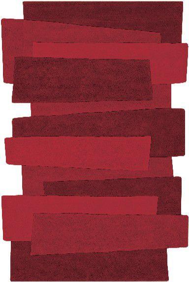 Teppich Angelo Pebbles Balken 9714-10 rot