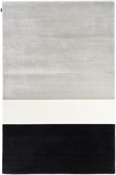 Kurzflor Designer Teppich Angelo Signature Jean Francois D'Or 6022-P3-59F silber schwarz