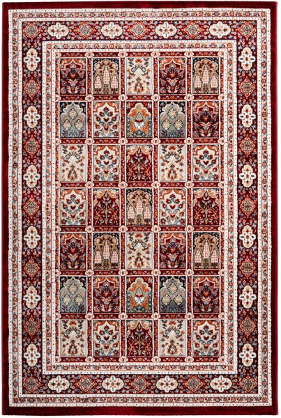Kurzflor Designer Teppich Obsession Isfahan 742 rot
