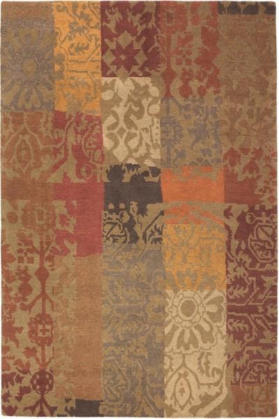 Kurzflor Designer Teppich Brink & Campman Yara Patchwork 194003 braun