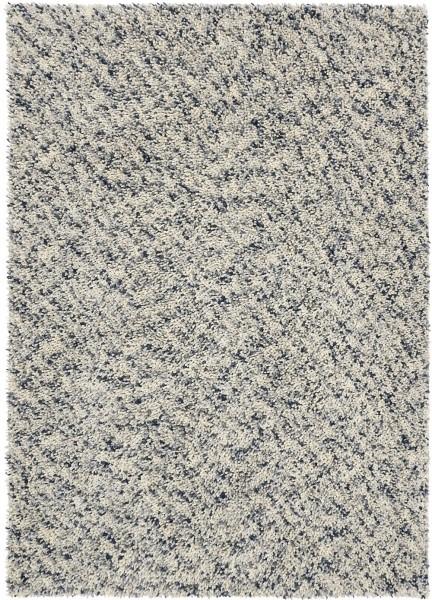 Hochflor Shaggy Teppich Brink & Campman Dots 170504 grau weiss