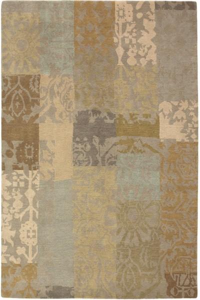 Kurzflor Designer Teppich Brink & Campman Yara Patchwork 194001 beige