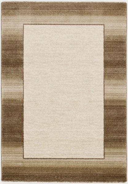 Kurzflor Designer Teppich Super Line Velleti Plain 616 beige braun