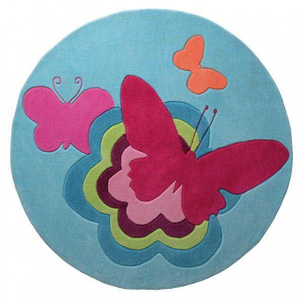 Teppich Esprit Butterflies ESP-3811-01 blau