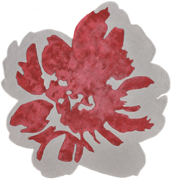 Kurzflor Designer Teppich Angelo Spring 2111-ING017 silber rot