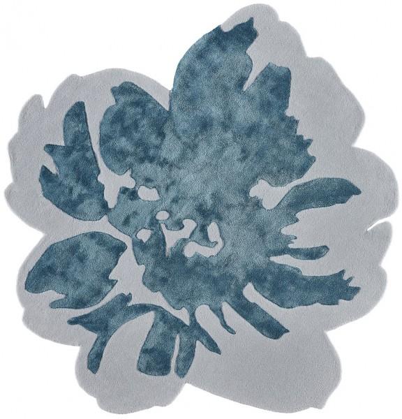 Kurzflor Designer Teppich Angelo Spring 2111-ING025 silber blau
