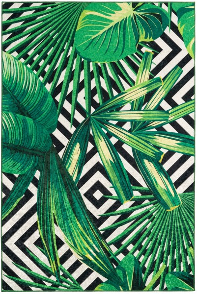 Kurzflor Designer Teppich Obsession Exotic 214 grün