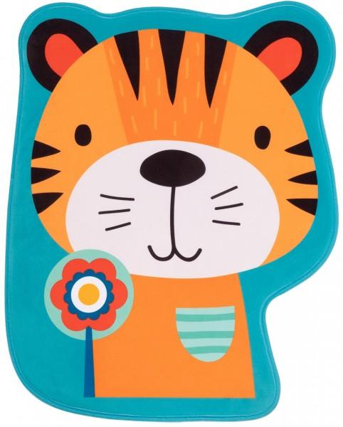 Kinder Teppich Obsession Mila Kids 149 Tiger blau gelb
