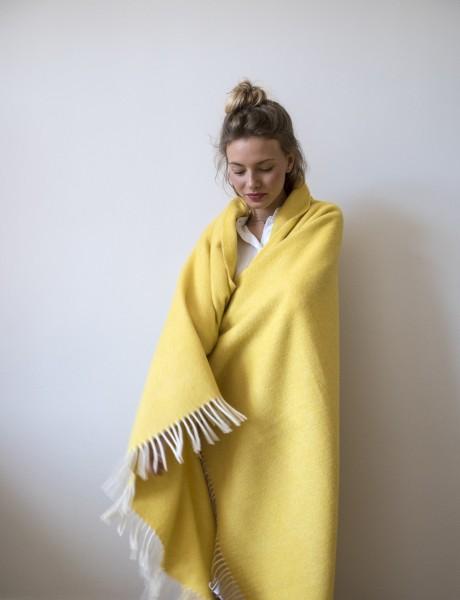 Decke Neuseelandwolle Brita Sweden Mono sulphur / gelb