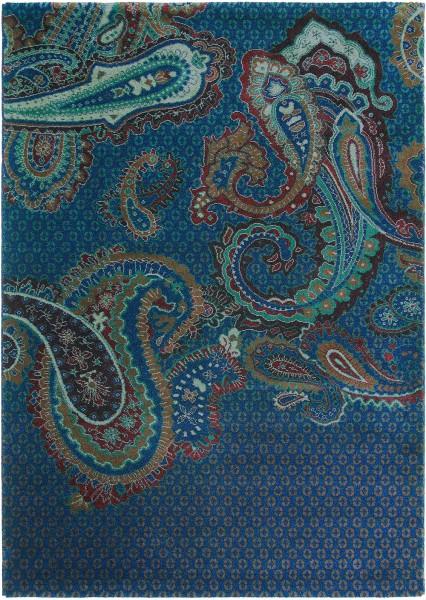 Kurzflor Designer Teppich Ted Baker Paisgeo 58608 blau
