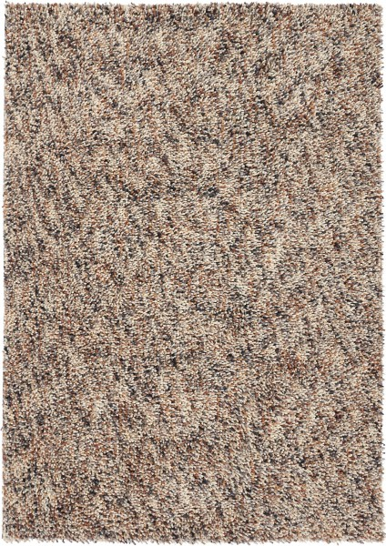 Hochflor Shaggy Teppich Brink & Campman Dots 170401 braun beige