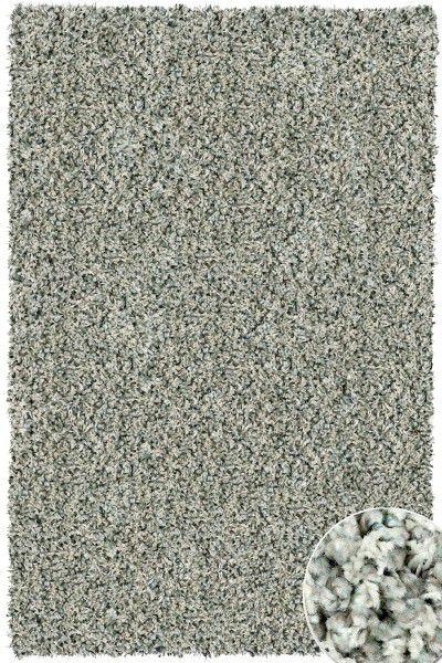 Hochflor Shaggy Teppich Twilight 9944 eis / grün grau 133 x 195 cm