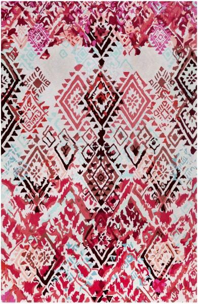 Kurzflor Designer Teppich Accessorize Love Vintage ACC-007-10 rosa rot