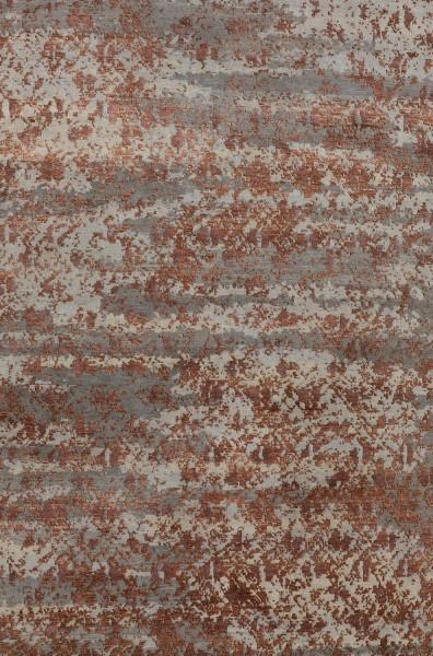 Kurzflor Designer Teppich Angelo Heritage Scottish 5100-SC-L2R2 grau rot orange