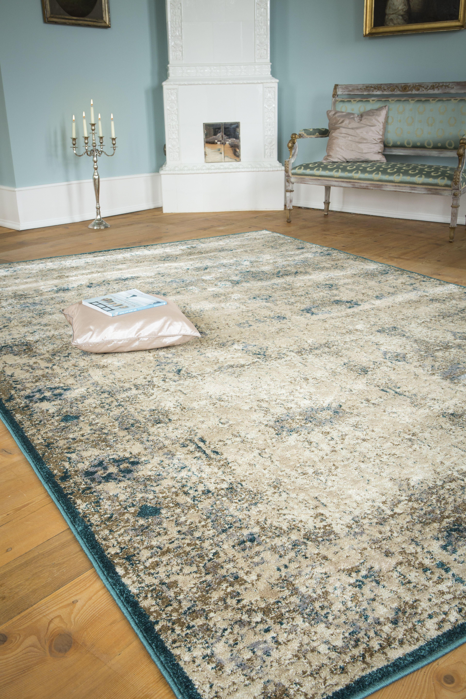 teppich luxor living rossini creme t rkis raum quadrat fashion your room der onlineshop. Black Bedroom Furniture Sets. Home Design Ideas