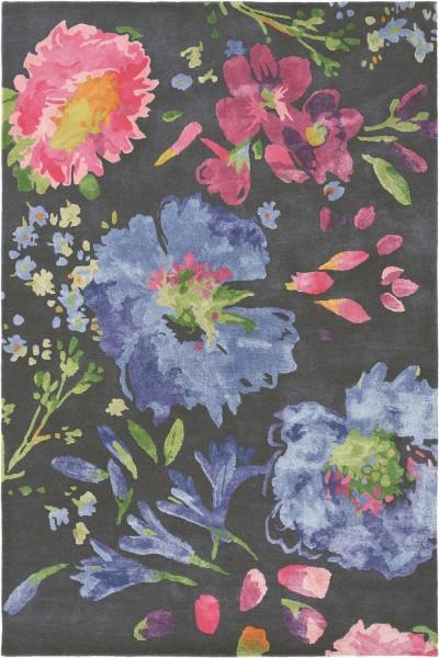 Kurzflor Designer Teppich Bluebellgray Kippen 18705 lila grau