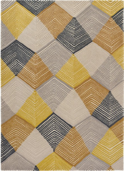 Kurzflor Designer Teppich Harlequin Rhythm 40906 Saffron multicolor