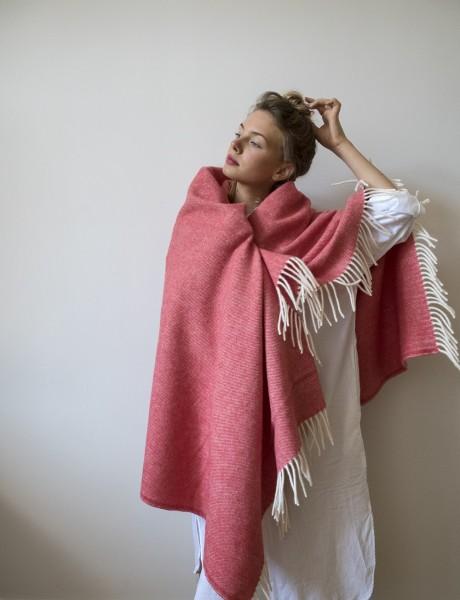 Decke Neuseelandwolle Brita Sweden Mono blush / rosa