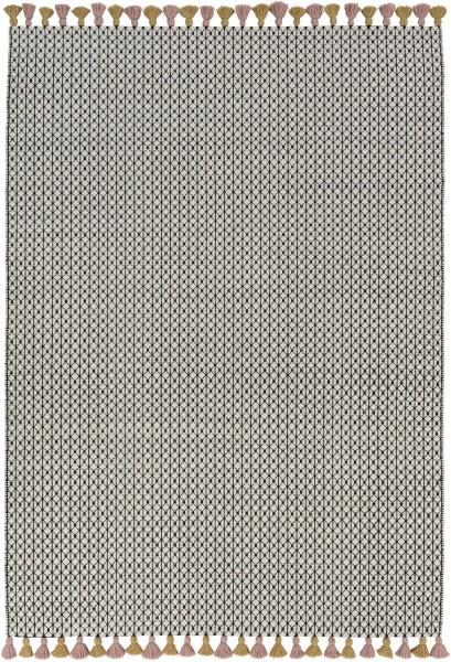 Kurzflor Designer Teppich Schöner Wohnen Insula 191 015 schwarz weiss rosa
