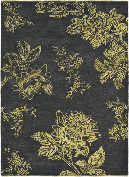 Kurzflor Designer Teppich Wedgwood Tonquin 37005 charcoal / anthrazit