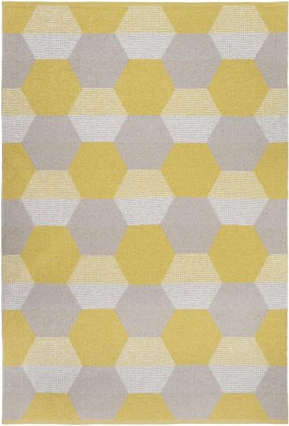 Indoor / Outdoor Teppich Brita Sweden Puck sun / gelb grau (Gross)