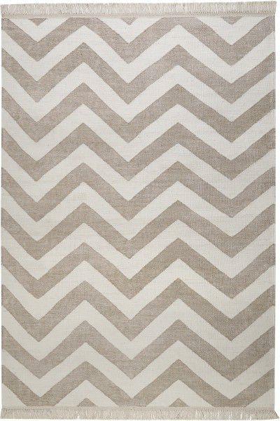 Teppich Carpets Co Zig Zag Go 0003 04 Beige Weiss Raum Quadrat