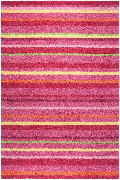 Teppich Esprit Funny Stripes ESP-2845-01 rosa rot