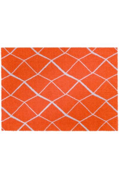 Sauberlaufmatte Schöner Wohnen Brooklyn Gitter 010 orange