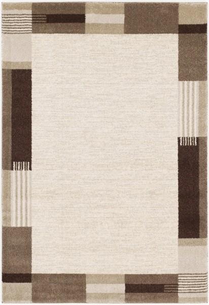 Kurzflor Designer Teppich Super Line Velleti Bord 616 beige braun