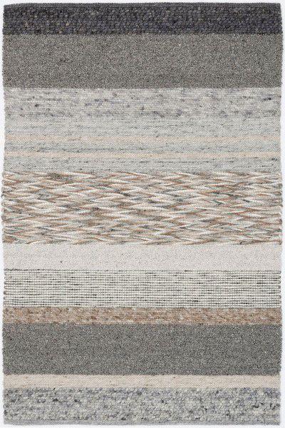 Kurzflor Designer Teppich Paulig Art Weave 30 silber grau
