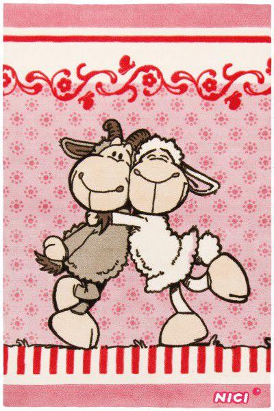 Kinderteppich Nici 650 Jolly Gustav & Elsa 1 rosa