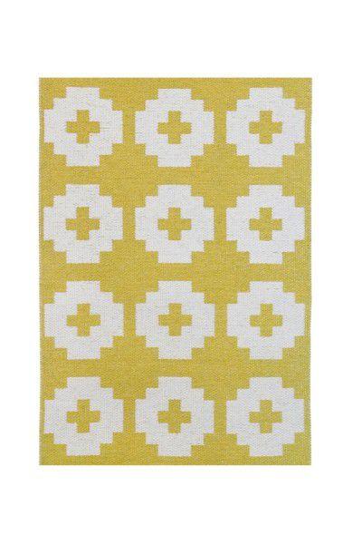 Indoor / Outdoor Teppich Brita Sweden Flower sun / gelb (Klein)