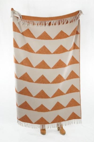 Decke Neuseelandwolle Brita Sweden Arctic brick / orange
