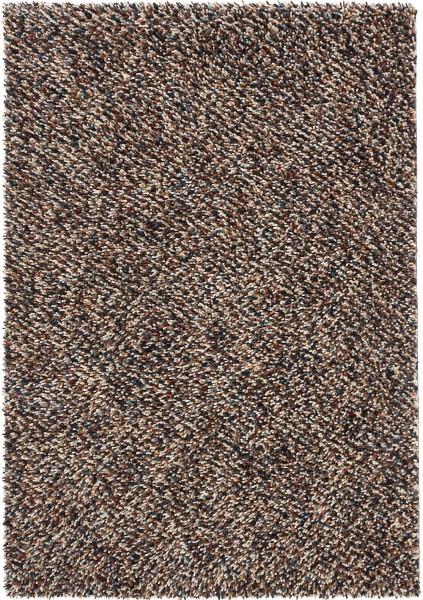 Hochflor Shaggy Teppich Brink & Campman Dots 170405 braun multicolor