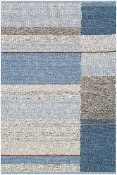 Kurzflor Designer Teppich Paulig Monza Design 53 blau