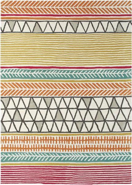 Kurzflor Designer Teppich Scion Raita 24700 Citrus multicolor