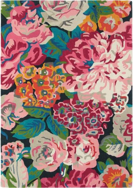 Kurzflor Designer Teppich Sanderson Rose & Peony 45005 Cerise multicolor