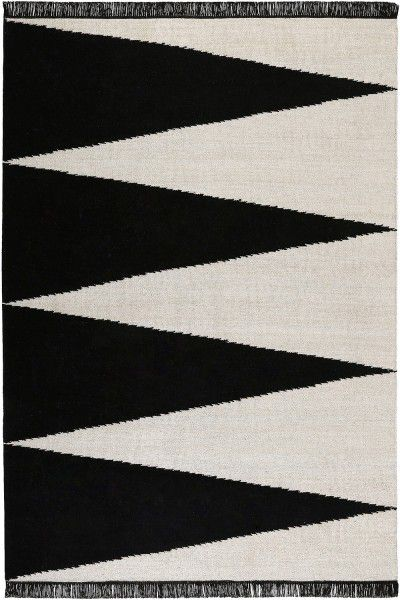 Teppich carpets&co Smart Triangle GO-0002-01 schwarz weiss