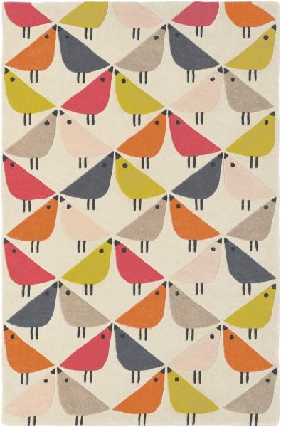 Kurzflor Designer Teppich Scion Lintu 24402 Rhubarb multicolor